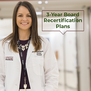 3-Year Recertification Plans for Board Certified Pharmacists